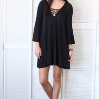 Cross My Heart Dress {Black}