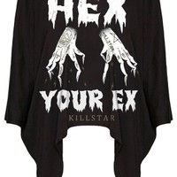 Killstar Hex Drape Top