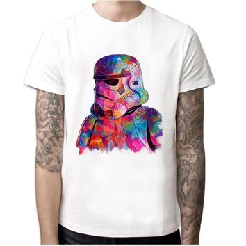 Star Wars Force Episode 1 2 3 4 5 the last jedi  8 movie film male t-shirt  Episode VIII mens t shirt clothing darth vader Tshirt tops tees AT_72_6