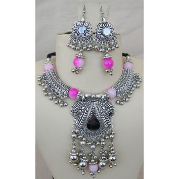Gypsy JEWELRY Birthday Gift Tribal Necklace BOHO Necklace and earring Set