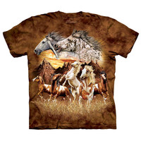 The Mountain Men's  Find 15 Horses Small T-shirt