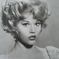 Vintage Jane Fonda Photograph/ Jane Fonda/ Vintage Black and White Photo/ Vintage Photograph/ Jane Fonda Picture/ Vintage Photo