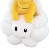 "Sanei Super Mario Plush Series Plush Doll 8"" Lakitu/Jyugemu Plush Japanese Import"