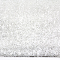 1 Yards Sequin Seaweed White Fabric for Fashion and Decor
