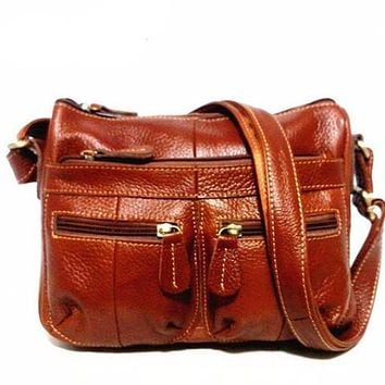 Vintage Genuine Leather Messenger Shoulder Bag