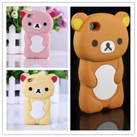 Rilakkuma Case For iPhone 5S Case 3D Cute Brown Bear Cover For iPhone 5 5S SE 4 4S 5C Silicone Phone Cases Capa Funda Coque Para