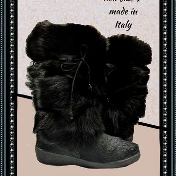 Alessia furry boots - adorable - size 9