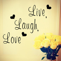 Decal Wall Sticker LIVE LAUGH LOVE