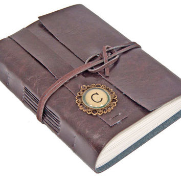Faux Leather Journal - Lined Paper - Choice of Colors - Travel Journal - Personalized - Handmade - Custom - Journal - Prayer Journal -
