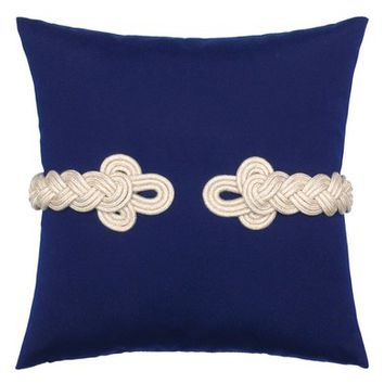 Elaine Smith Navy Frogs Clasp Accent Pillow | Nordstrom