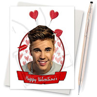 Justin Bieber. Purpose Tour. Love Yourself. Funny Valentine Card. Boyfriend Gift. Funny I Love You. Boyfriend Valentine. Valentine Day Card.