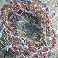 Infinite Love Spirit Cord - Colorful, Glimmering and Hand Spun