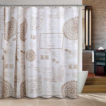 Europe Brown Cortina de Bano Shower Curtain