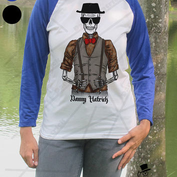Heisenberg Skull Danny Hatrick Breaking Bad Skeleton Cool Trendy Hipsterberg Baseball Shirt