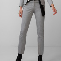 Low Rise Heathered Columnist Ankle Pant