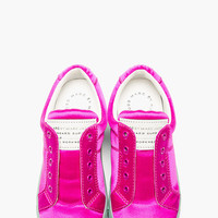 FUCHSIA PINK SATIN NO-LACE CUTE KICKS SNEAKER