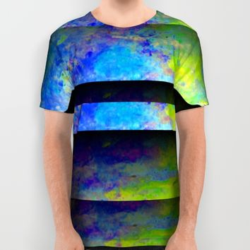 Yellow Color Blinds All Over Print Shirt by ARTDIGITAL