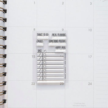 MINI Date Checklist - Planner Stamps (Photopolymer Clear Stamps) checklist, date checklist, make a list