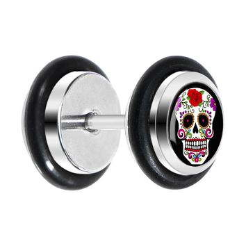 White Sugar Skull Cheater Plug