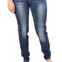 LA Idol Ladies Skinny Jeans with Embossed Pocket