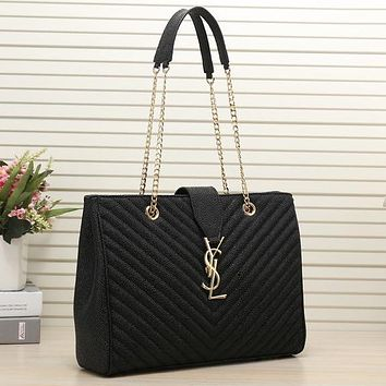 Perfect YSL Yves Saint Laurent Women Shopping Leather Chain Satchel Shoulder Bag Satchel Crossbody