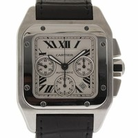 Cartier Santos 100 swiss-automatic mens Watch W20090X8 (Certified Pre-owned)