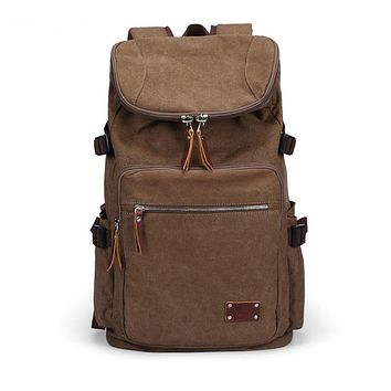 Men's backpacks casual canvas backpack school bags large capacity travel bag