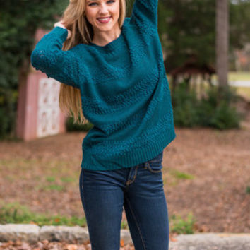 What A Beautiful Dejavu Sweater, Teal