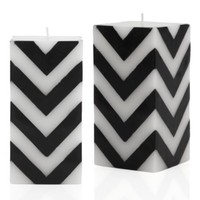Z Gallerie - Zig Zag Candle - Black