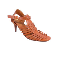 J. Crew Brown Leather Strappy High Heel Sandals Shoes Size 8