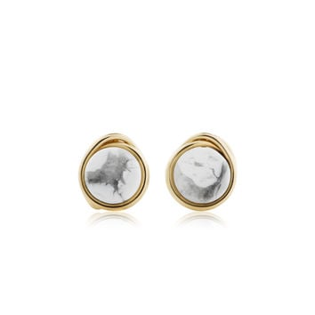 Howlite Marble Studs