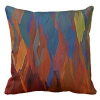 Burning Tulips Throw Pillow