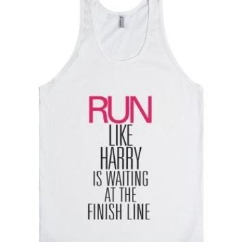 Run like Harry is waiting at the finish line-Unisex White Tank