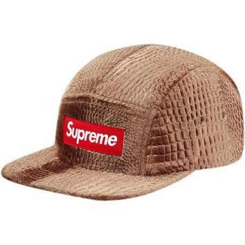 Supreme Embossed Croc Camp Cap - Gold