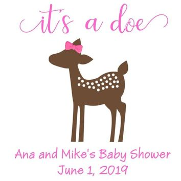 Its A Doe Baby Shower Favor Tags