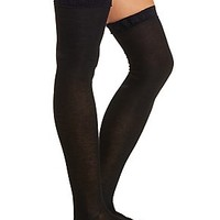 LACE RUFFLE OVER-THE-KNEE SOCKS