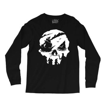 sea of theives skull Long Sleeve Shirts