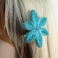 Tiffany Blue Hair Accessory, Bridesmaid Hair Accessories