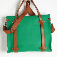 Travel, Scholastic Camp Director Tote in Grass by ModCloth