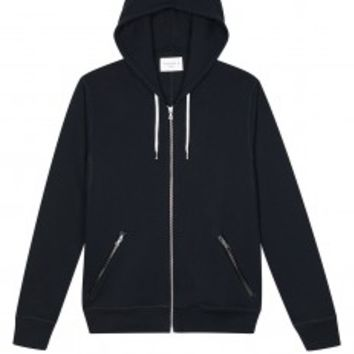 Sandro TROOP Black Hooded Sweatshirt at Sandro US