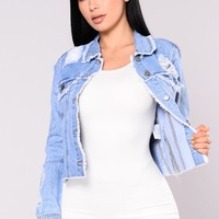 Be About It Jacket - Light Wash