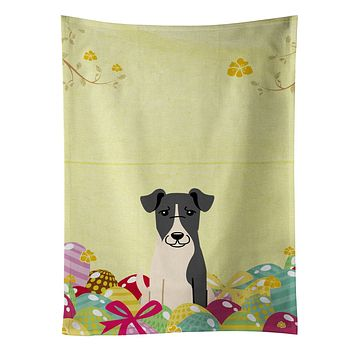 Easter Eggs Smooth Fox Terrier Kitchen Towel BB6098KTWL