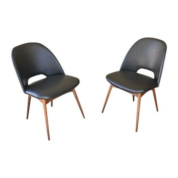 Pre-owned Adrian Pearsall 1404-C Scoop Chairs - A Pair