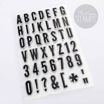 "Ms. Kimm Creates TALL & THIN 4""x6"" Photopolymer Alphabet Stamp Set - Limited Release"