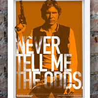 Star Wars Inspired Print (Heroes Series: HAN SOLO) A3