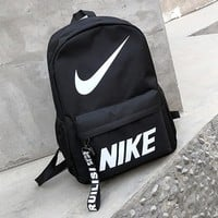 Nike & Adidas Fashion New Letter Hook Print Women Men Backpack Bag Leisure Shoulder Bag Black