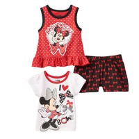 Disney's Minnie Mouse ''Bowtiful'' Top & Shorts Set - Baby Girl, Size: