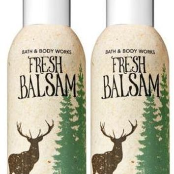 2 Bath & Body Works FRESH BALSAM Room Spray 1.5 oz