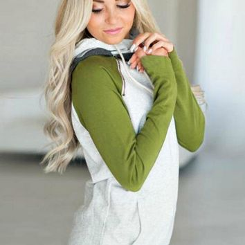 Wrapped in Love Hoodie -Olive