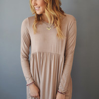 Cottonwood Stitched Dress Taupe